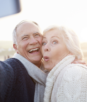 Older couple from San Marcos CA had a tooth implant procedure performed in Carlsbad.