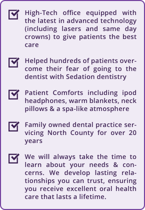 What differentiates La Costa Dental Excellence from other Carlsbad dentists.